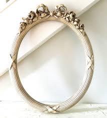 antique oval frame ornate. Modren Antique Vintage Oval Frame White Cream Ornate By Alwaysmaybevintage Intended Antique U