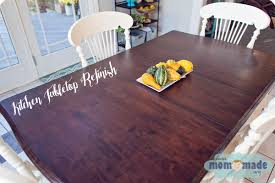 Refinish Kitchen Table Top Mom Made Sewing Shop Kitchen Tabletop Refinish Window Seat