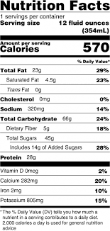 regular protein acai bowl nutrition facts serving size 12 fluid ounces 354ml