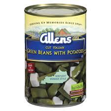 cut italian green beans and potatoes