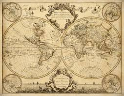 World Map Home Decor Lisles 1720 Old World Map Historic Map Antique Restoration