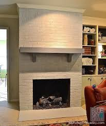 how to paint a brick fireplace fusion mineral