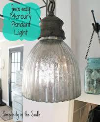 faux easy mercury pendant light