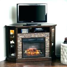 heater tv stand electric fireplace stone corner