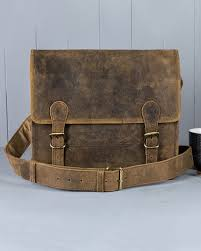 small leather satchel by scaramanga hover to zoom