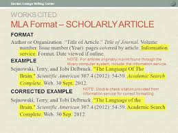 mla scientific paper in text citations and works cited ppt download