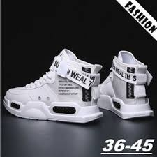 Men Women Fashion Outdoor Casual Boots Trend High-tops ... - Vova