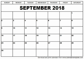 2018 Calendar Template Printable February 2018 Calendar Template ...