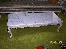 vintage marble top coffee table md in