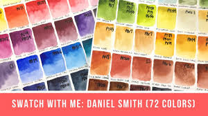 Swatch With Me 72 Daniel Smith Colors