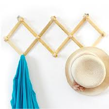 Expandable Wooden Coat Rack Interesting Meigar Expanding Wooden Hanger 32 Peg Expandable Coat Rack Hat