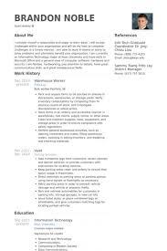 Resume Samples For Warehouse Maggilocustdesignco Warehouse Jobs