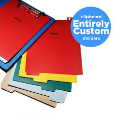 Charting Supplies Entirely Custom Polyethylene Divider Sets For Clipboards