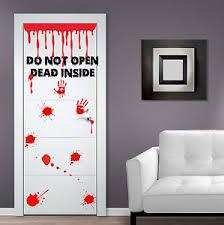 image is loading decal door vinyl sticker zombie don 039 t