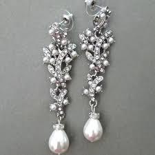 chandelier pearl earrings for wedding long bridal chandelier earrings pearl wedding rhinestone jewelry ivory drop pearl chandelier pearl earrings