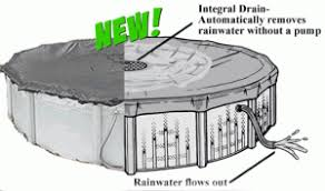 EZ Drain Winter Above Ground Pool Cover Wet Head Media