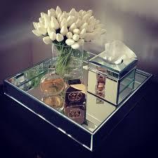 Bathroom Vanity Tray Decor Mirror Home Decor White tulips Mirror tray interior www 69