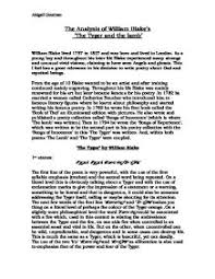 the analysis of william blake s the tyger and the lamb gcse  page 1 zoom in