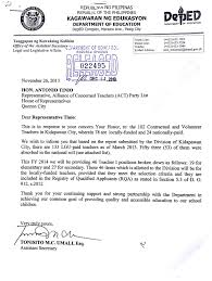 Examples Of Application Letter For Teachers In The Philippines
