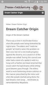 Www Dream Catchers Org Classy Origin Of Dreamcatchers○ Httpwwwdreamcatchersorgdream