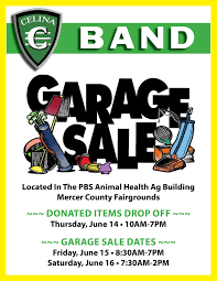 Celina Band Garage Sale Mercer County Fairgrounds