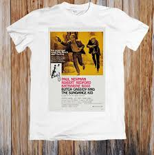 Butch Cassidy And The Sundance Kid 1960s Retro Movie Poster Unisex T Shirt Fun Tee Daily Tee Shirts From Jie54 14 67 Dhgate Com