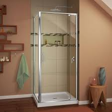 36 x 36 corner shower kit. dreamline flex 36 in. x 74.75 corner framed pivot shower kit n