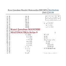Kunci jawaban buku siswa tematik kelas 4 kurikulum 2013 revisi. Jual Kualitas Terjamin Buku Mandiri Matematika Smp Kelas 9 Ix K13 Soal Jakarta Pusat Mariadi Agustina Tokopedia