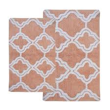chesapeake merchandising double quatrefoil salmon ivory 2 ft x 3 ft 4 in