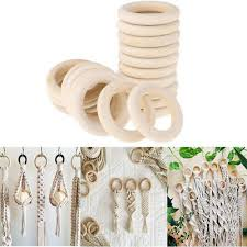 15MM-65MM <b>DIY Wooden Beads Connectors</b> Circles Rings Beads ...
