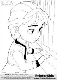 disney pixar frozen elsa color book page13887