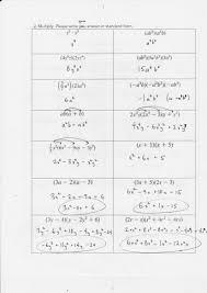 worksheet factoring perfect square binomials and trinomials
