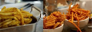 french fries vs sweet potato fries