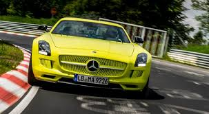 Mercedes Benz Sls Amg Electric Drive Breaks Nurburgring Ev Lap Record