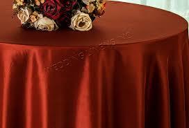 90 round satin table overlay rust 55547 1pc pk