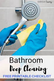this month we are focusing on how to deep clean bathroom included is a list