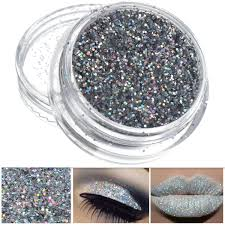 silver glitter loose nail decoration powder eye shadow pigment sparkly makeup 0 4mm 3g