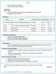 Get complete details about student cv overview, samples, format & writing tips at admitkard. Mba Finance Marketing Resume Cv Biodata Curriculum Cute766
