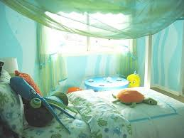 faux painted walls under sea leave a