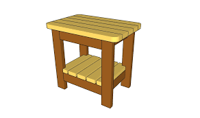 outdoor side table plans