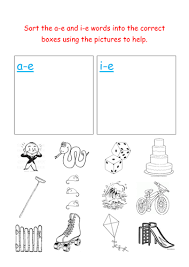 Each sheet provides activities for letter sound learning, letter formation, blending and segmenting. Jolly Phonics Sorting A E And I E Words Teaching Resources