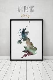great britain watercolor map great britain wall art uk map poster united kingdom watercolor print england map poster artprintsvicky by artprintsvicky  on poster wall art uk with great britain watercolor map great britain wall art uk map poster