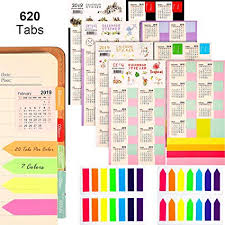 2020 calandars zhanmai 2019 2020 calendars stickers planners monthly adhesive index tabs 9 2019 3 2020 with 4 sets neon page markers colored index tabs sticky note