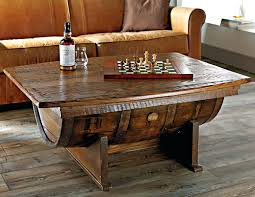 whiskey barrel furniture for handmade vintage oak whiskey barrel coffee table whiskey barrel pub table for