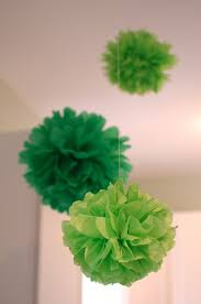 How To Make Tissue Paper Balls Decorations making these in brown blue green and white to hang over sons 46