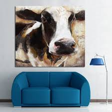 modern art 100 handpainted animal oil painting cow paintings on canvas wall pictures for home