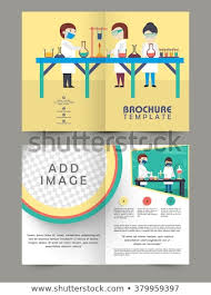Two Page Brochure Template Creative Two Page Brochure Template Flyer Stock Illustration