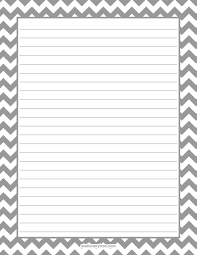 stationery and writing paper gray chevron stationery