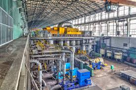 electric generator power plant. Machine Room In Thermal Power Plant With Electric Generators And Turbines Stock Photo - 48447222 Generator S