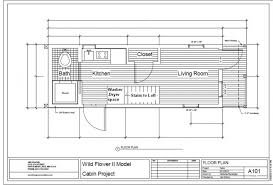 Small Picture Floorplan For The Wildflower Ii Tiny Green Cabins Dimensions Tiny
